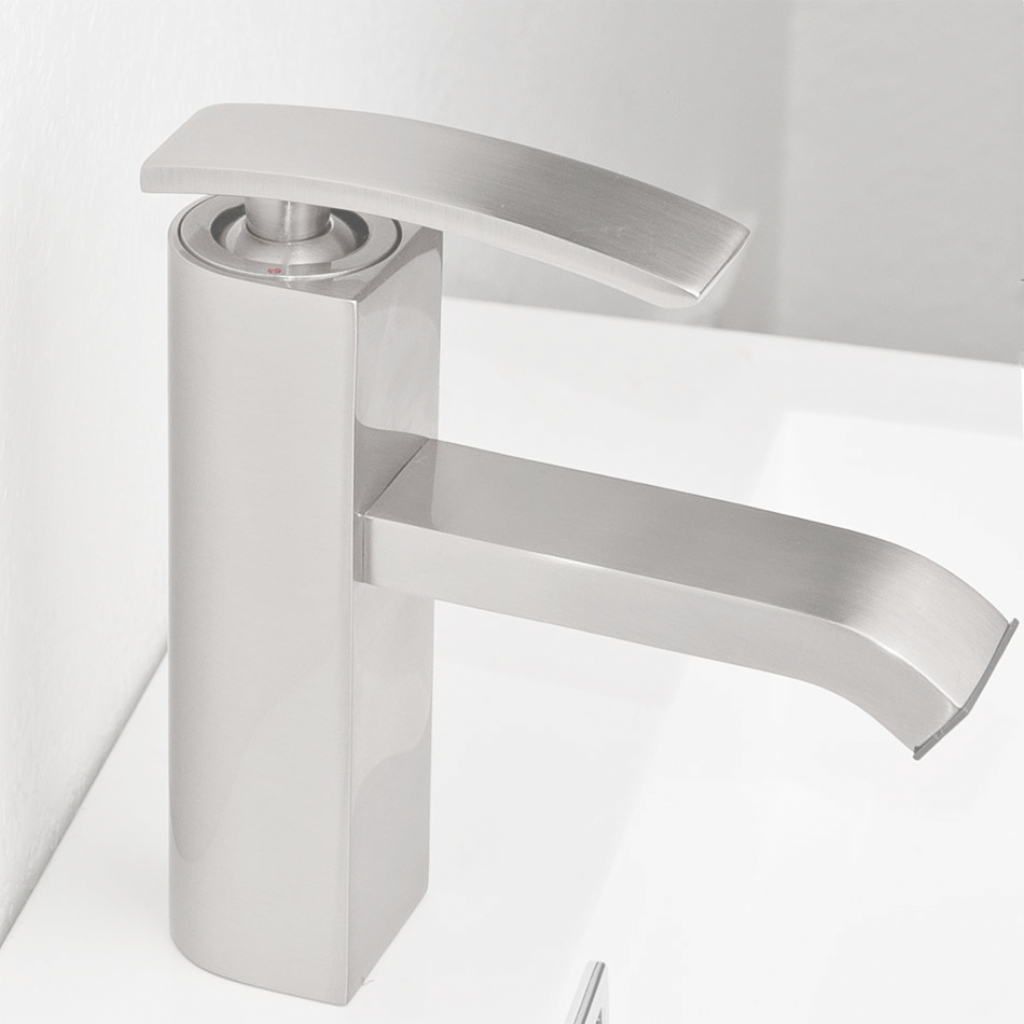Lovely Bathroom Faucet Brushed Nickel Ouli M11001-081B - Conceptbaths intended for Satin Nickel Bathroom Faucet