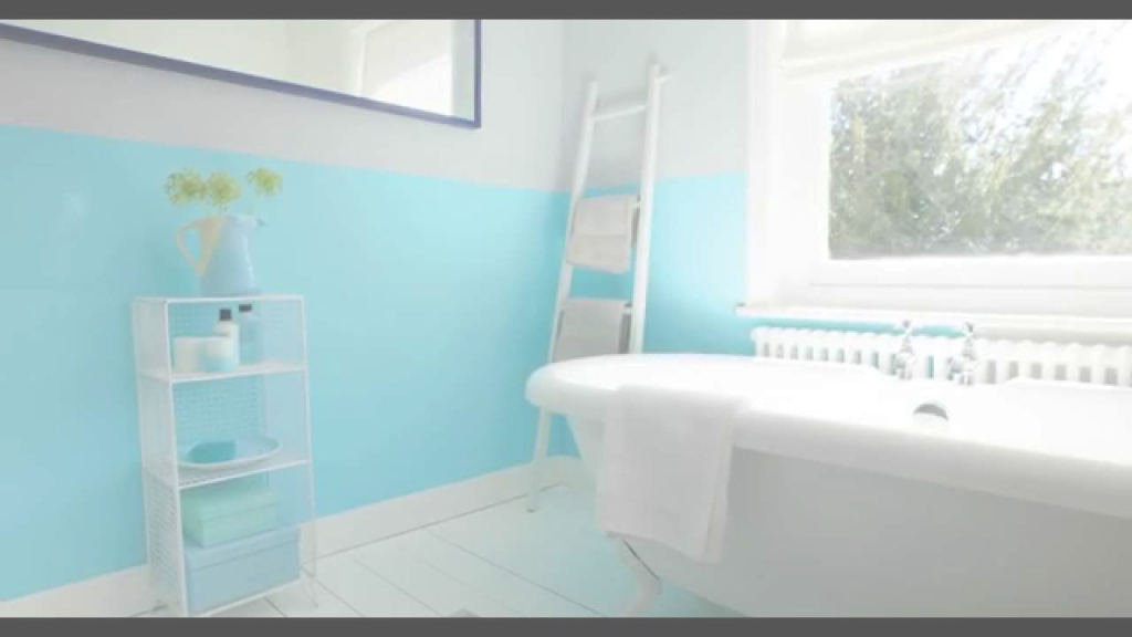 Lovely Bathroom Ideas: Using Aquamarine Blue - Dulux - Youtube intended for Blue Bathroom Paint