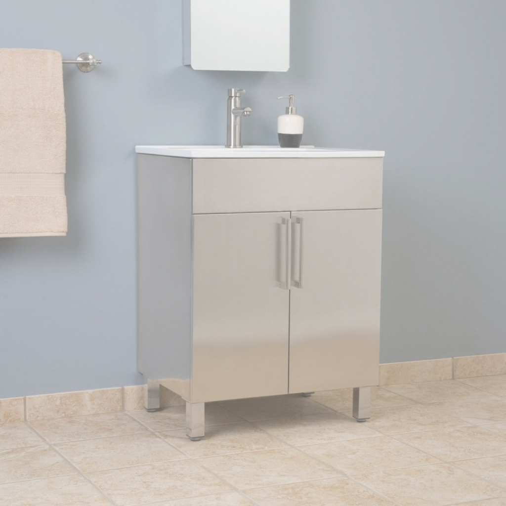 Lovely Bathroom : Metal Bathroom Vanity Small Size Top Special Ideas inside Set Metal Bathroom Vanity