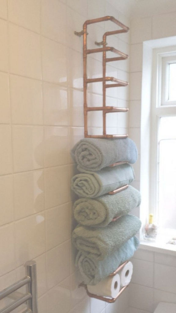 Lovely Bathroom Towel Rack Ideas Bathroom Bamboo Ladder Unique Rack Bamboo intended for Bathroom Towel Holder Ideas