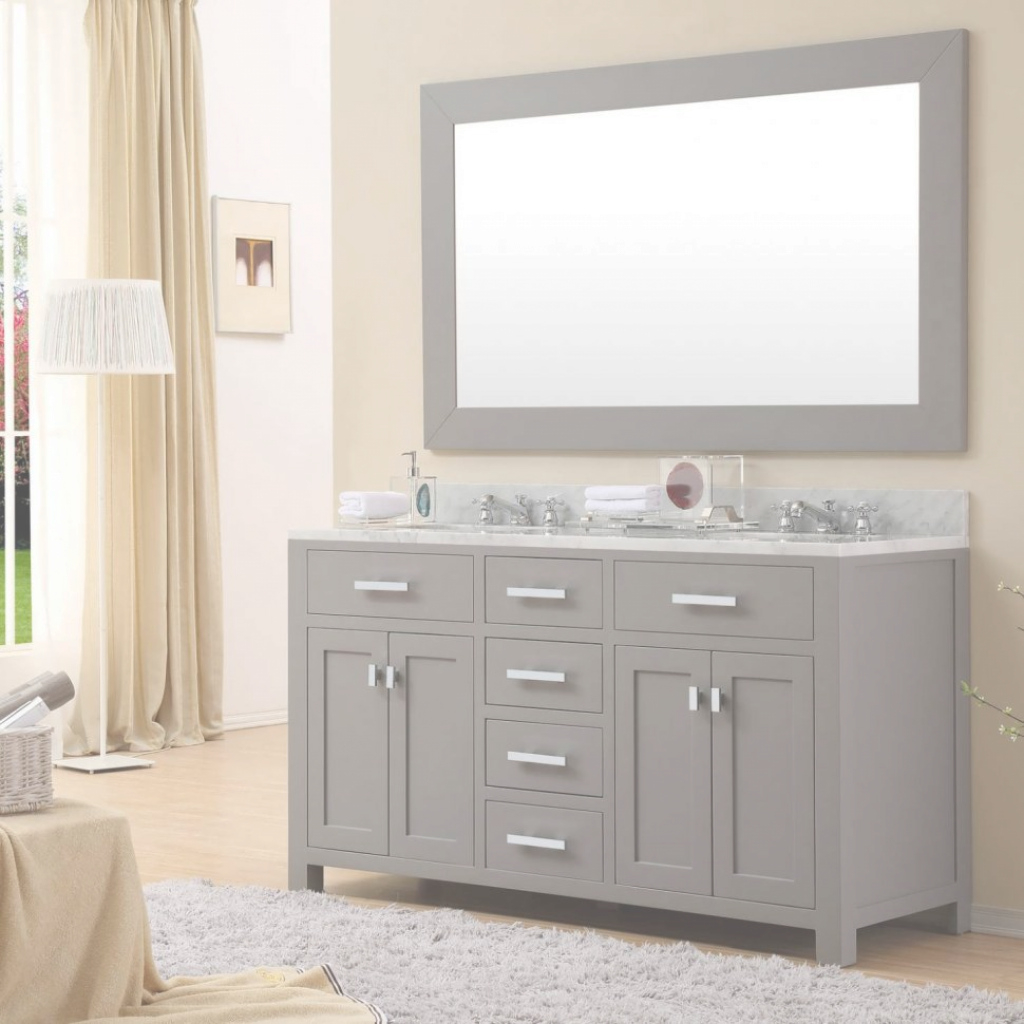 Lovely Bathroom Vanity : 60 Inch Double Sink Vanity Bathroom Sink And intended for Small White Bathroom Vanity