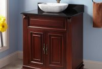 Lovely Bathroom Vanity : Various Grable Vessel Sink Vanity Mahogany inside Beautiful Dark Bathroom Vanity