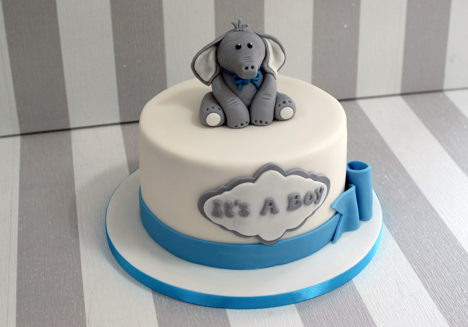 Lovely Beautiful Baby Shower Elephant Cake Boy Bake Tier Cakes Cheerful intended for Review Baby Boy Shower Cakes