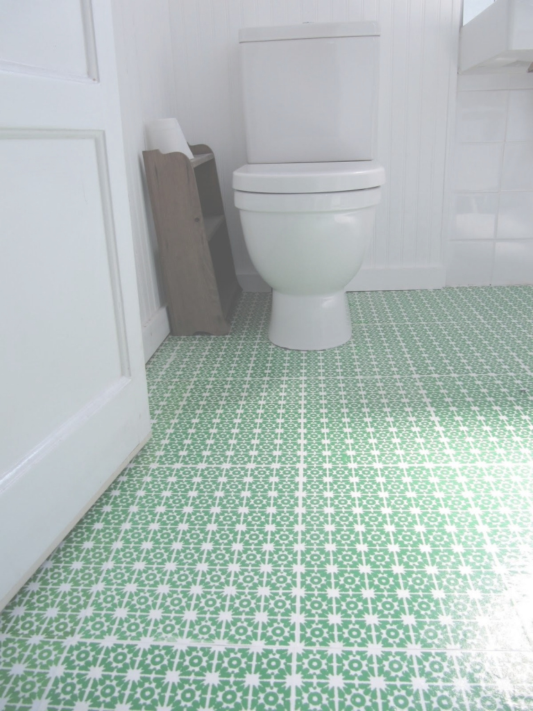 Lovely Beautiful Patterned Green Bathroom Vinyl Flooring For White Room within Elegant Vinyl Flooring For Bathroom