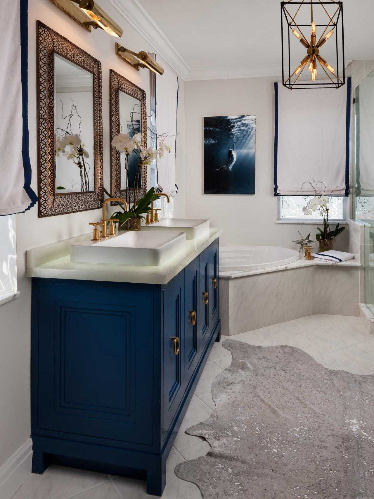 Lovely Blue Bathroom Vanity Cabinet Gallery Also Navy Bath Vanities Design with regard to High Quality Blue Bathroom Vanity Cabinet