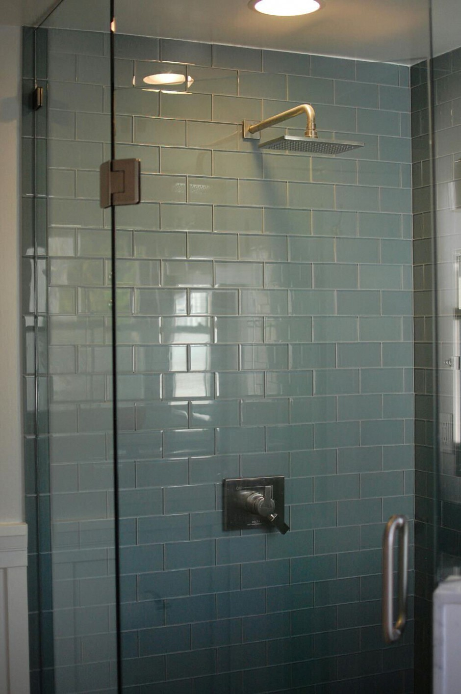 Lovely Blue Glass Tile Bathroom Blue Glass Subway Tile Bathroom Bathroom for High Quality Blue Glass Tile Bathroom