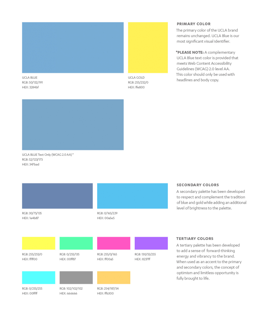 Lovely Brand Colors – Ucla Brand Guidelines in Fresh Branding Color Schemes
