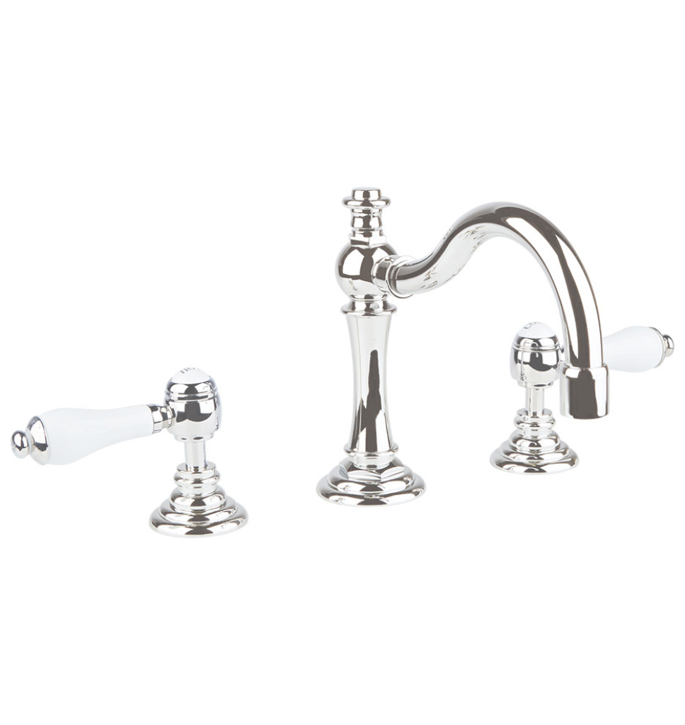 Lovely Connor Porcelain Lever-Handle Faucet | Rejuvenation regarding Porcelain Bathroom Faucets