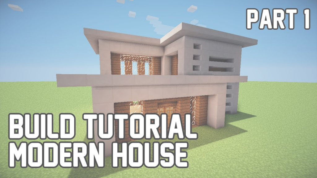 Lovely Cool Simple Houses To Build In Minecraft Minecraft Tree House Ideas regarding Good quality Medium Modern House Minecraft Image