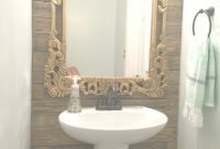 Lovely Create An Antique Gold Look With Paint And Stain | Simply Swider within Gold Bathroom Mirror