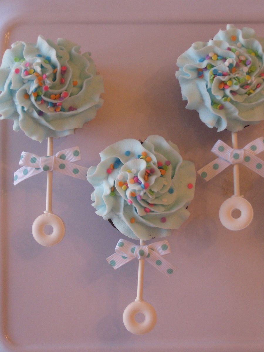 Lovely Cupcakes Made For A New Baby! Thanks To Cc Member | Awesome Cake for Baby Shower Cupcakes