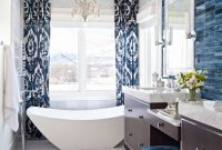 Lovely Decorating Ideas For Blue-And-White Bathrooms | Traditional Home with regard to Blue Bathroom Photos