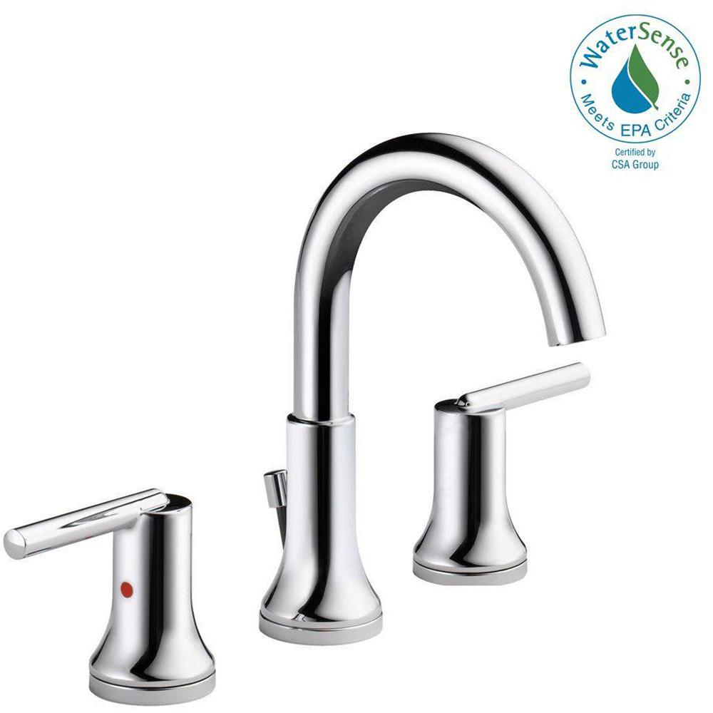 Lovely Delta Trinsic 8 In. Widespread 2-Handle Bathroom Faucet With Metal regarding Awesome Delta Trinsic Bathroom Faucet