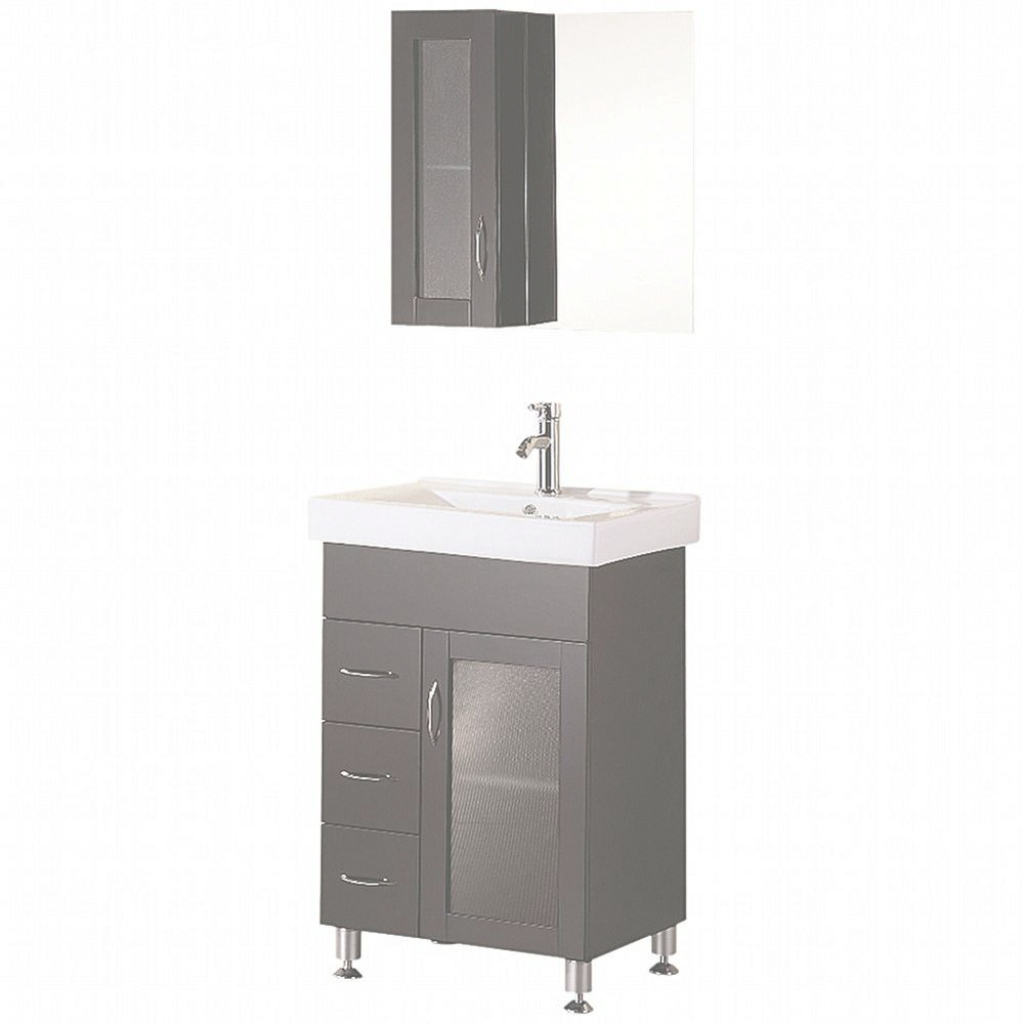 Lovely Design Element Oslo 24 In. W X 18 In. D Vanity In Espresso With inside Bathroom Sink Mirror
