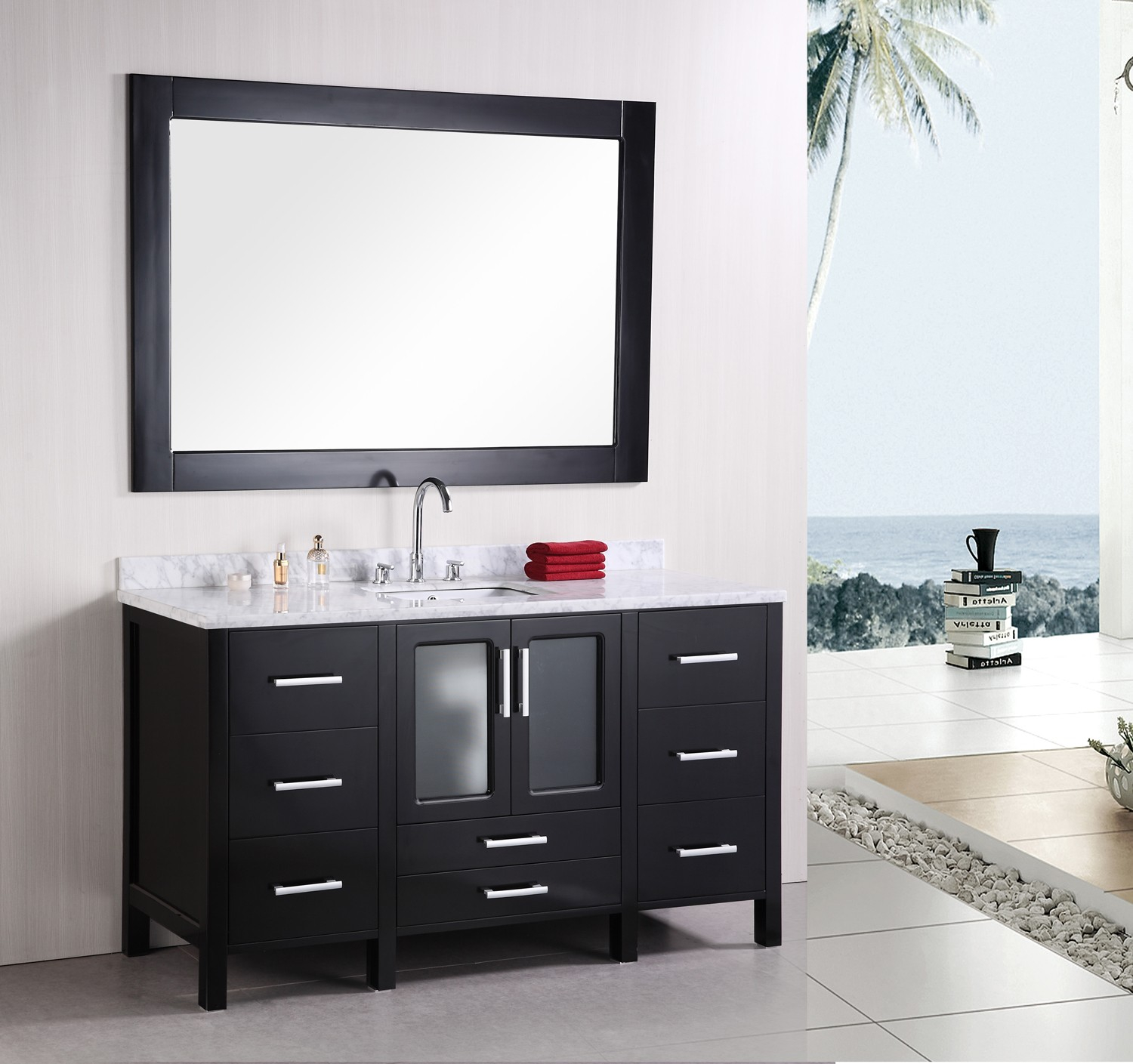 Lovely Design Element Stanton (Single) 60-Inch Modern Bathroom Vanity Set intended for Bathroom Vanity Table