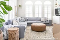 Lovely Designing A Small Living Room With A Large Sectional – Maison De Pax with regard to Decorating Small Living Room