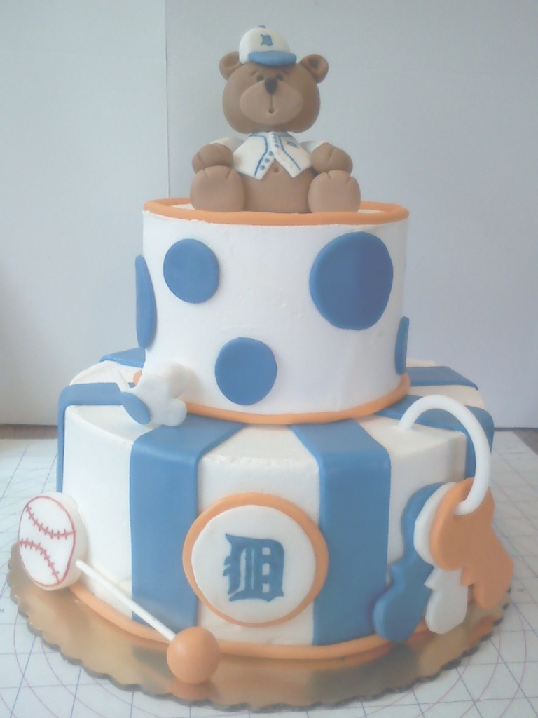 Lovely Detroit Tigers Baby Shower Cake | Cakes, Cupcakes Mini-Cakes Photos with Fresh Baseball Baby Shower Cakes