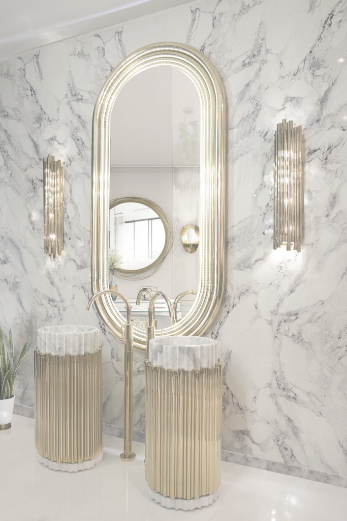 Lovely Discover The Best Bathroom Mirrors Designedmaison Valentina within Good quality Brass Bathroom Mirror