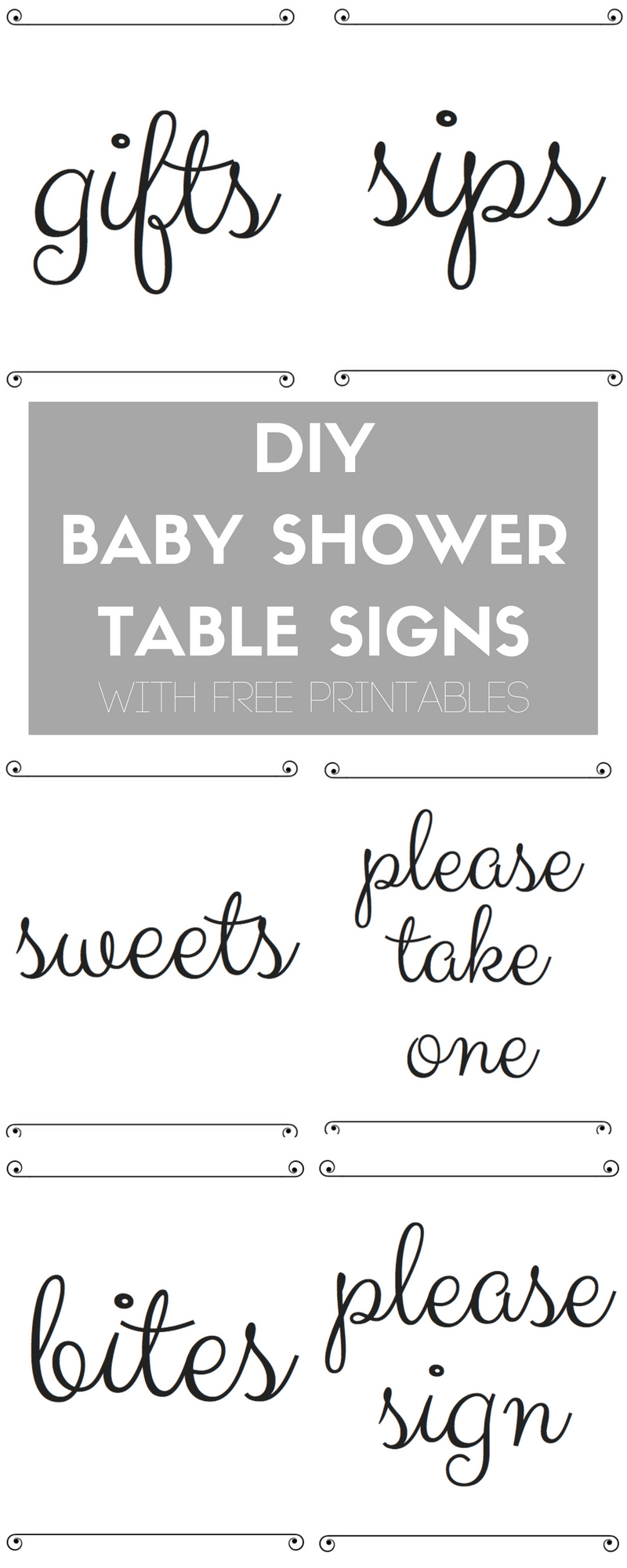 Lovely Diy Baby Shower Table Signs With Free Printables | Pinterest | Baby pertaining to Fresh Free Baby Shower Printables