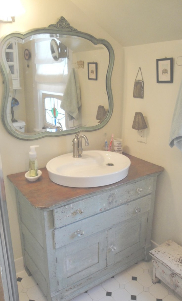 Lovely Diy Bathroom Vanity From Dresser | Spirit Decoration regarding Fresh Dresser Bathroom Vanity