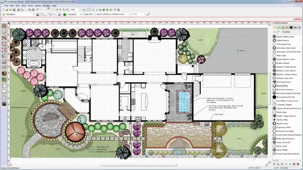 Lovely Easy-To-Use Cad For Landscape Design With Pro Landscape - Youtube intended for Beautiful Landscape Drawing Software