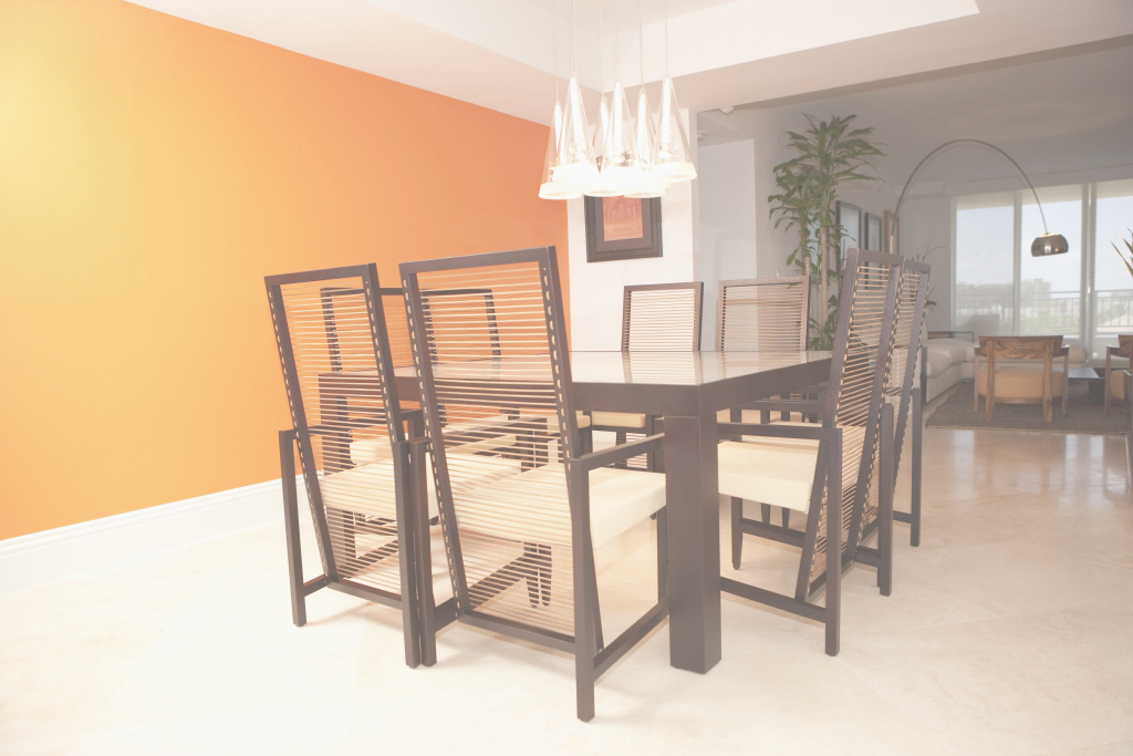 Lovely Elegant, Brilliant Dining Room Colors with regard to Awesome Orange Dining Room