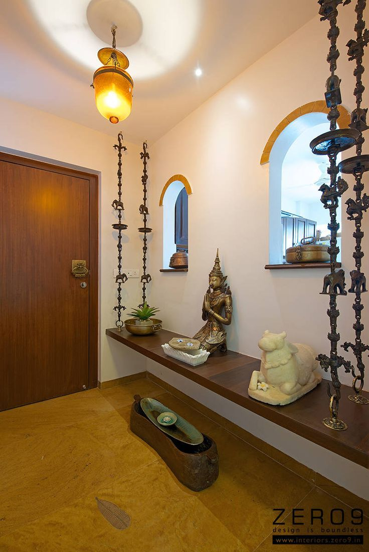 Lovely Entrance Area | Pinterest | Interiors, Foyers And Puja Room throughout Unique Indian Home Entrance Decoration