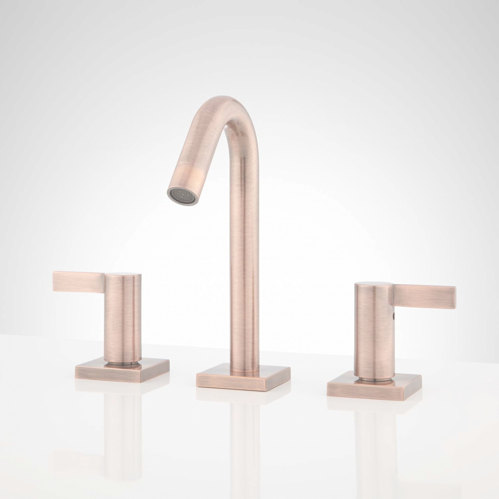 Lovely Flair Widespread Bathroom Faucet - Bathroom for Copper Faucet Bathroom