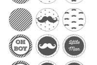 Lovely Free Printable Cupcake Toppers Mustache Party, Little Man Baby for Little Man Baby Shower Free Printables