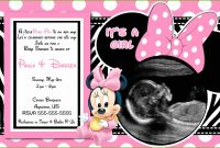 Lovely Free Printable Minnie Mouse Baby Shower Invitations Admirably How To inside Review Minnie Mouse Baby Shower Invitations