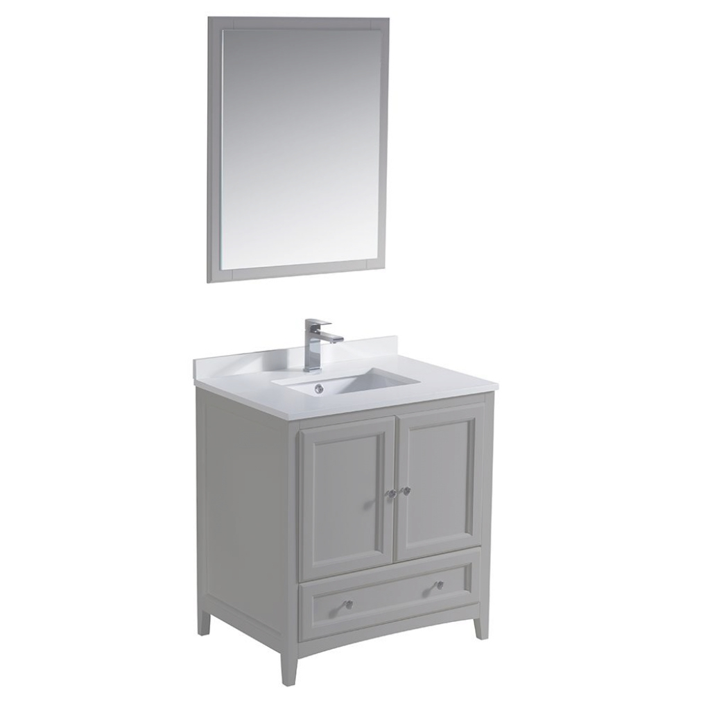 Lovely Fresca Oxford 30 In. Traditional Bathroom Vanity In Gray With Quartz with regard to Awesome Fresca Bathroom Vanity