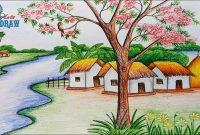 Lovely Gallery: Scenery For Class 12 Oil Pastel, – Drawings Art Gallery intended for Set Landscape Drawing For Class 8