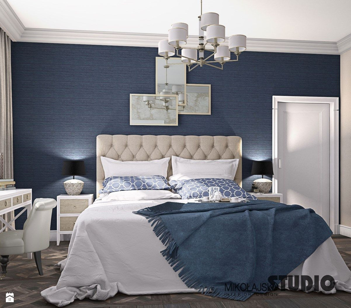 Lovely Gray And Light Blue Bedroom - Bedroom throughout Bedroom Gray