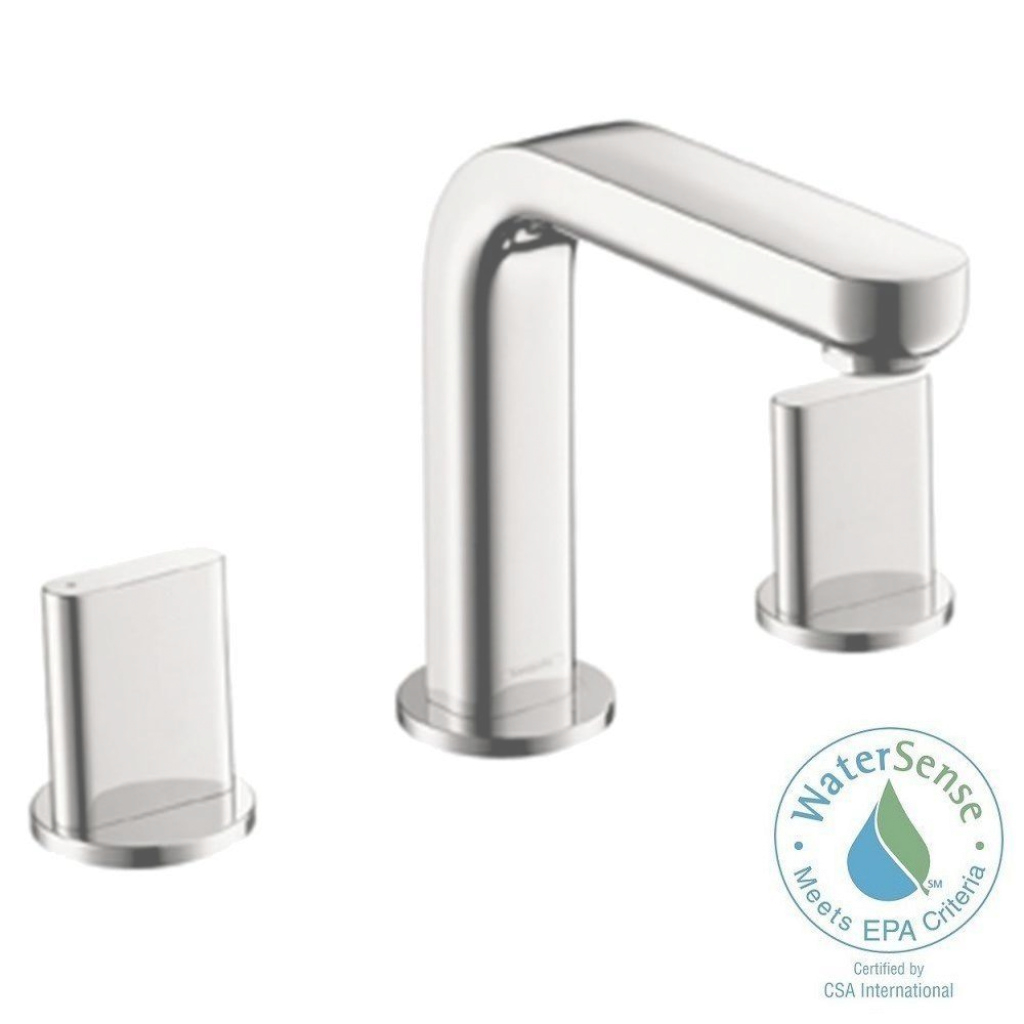 Lovely Hansgrohe Metris S 8 In. Widespread 2-Handle Mid-Arc Bathroom Faucet pertaining to Hansgrohe Bathroom Faucet