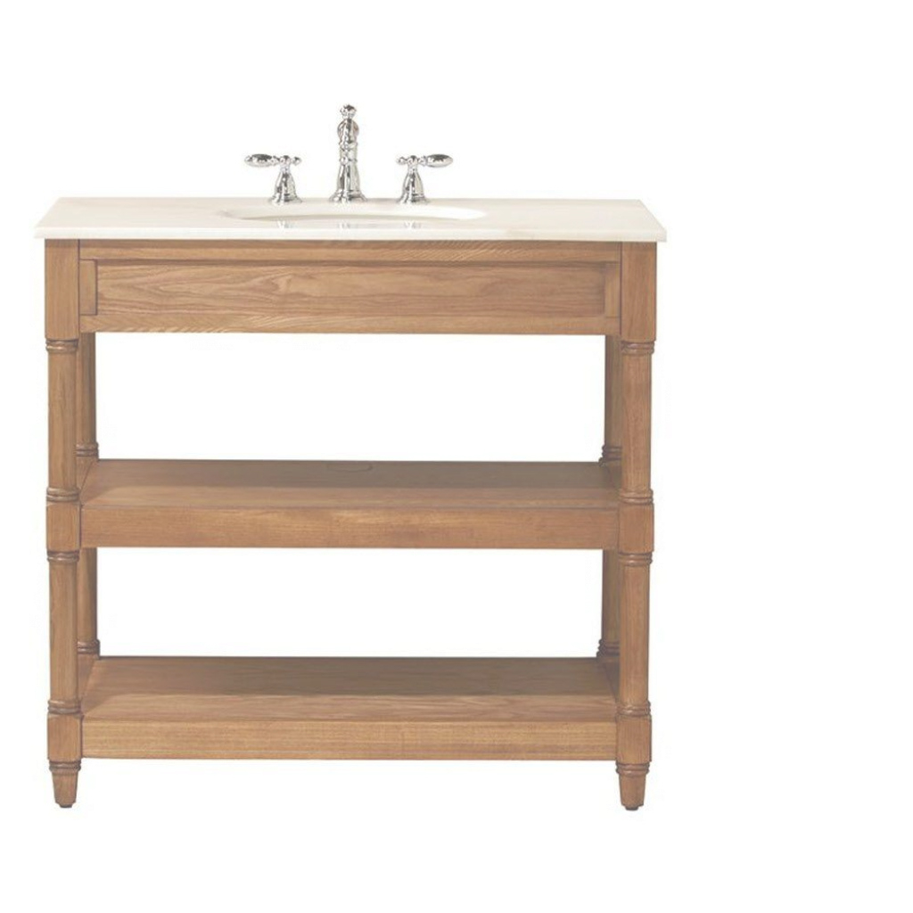 Lovely Home Decorators Collection Montaigne 37 In. W X 22 In. D Open Bath regarding Unique Home Depot Bathroom Vanities And Cabinets