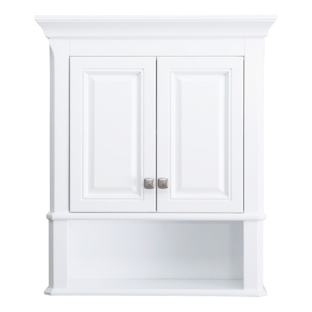 Lovely Home Decorators Collection Moorpark 24 In. W Bathroom Storage Wall within Wall Bathroom Cabinets