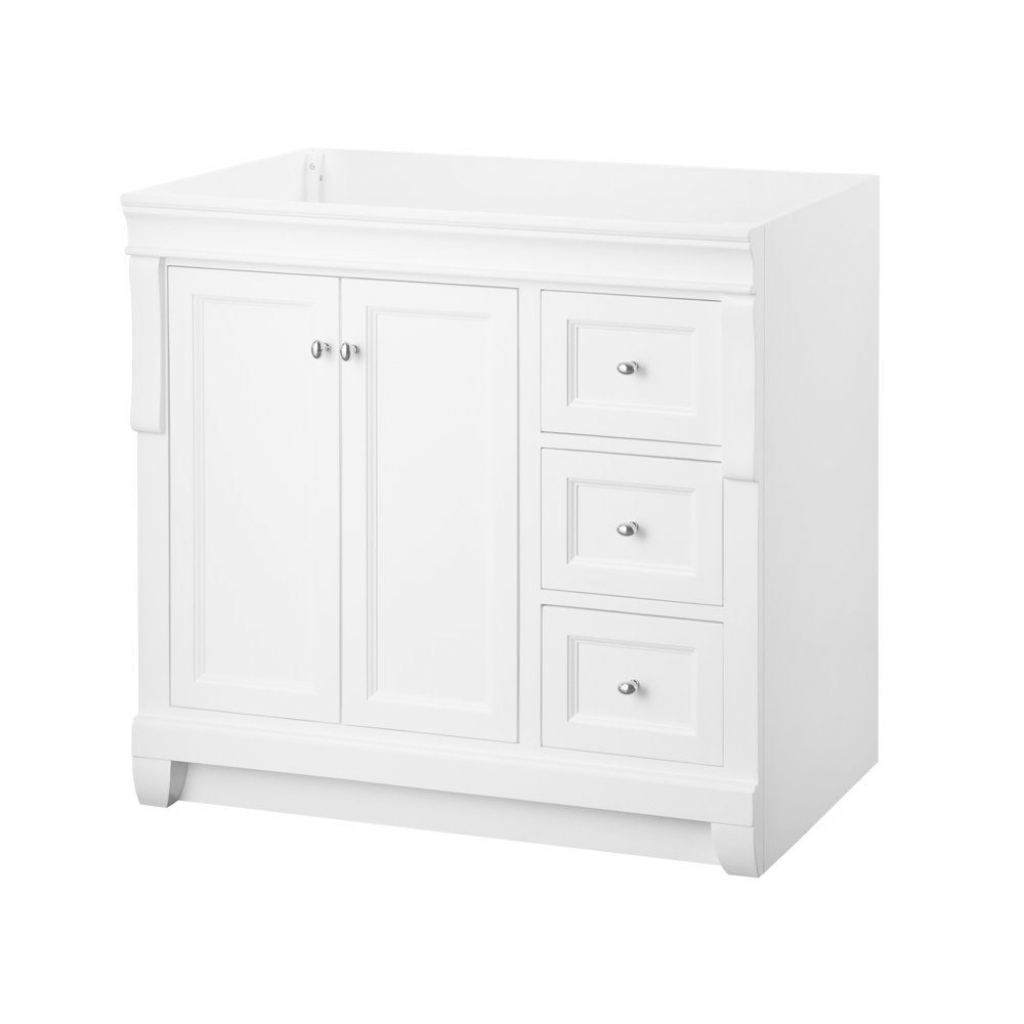 Lovely Home Decorators Collection Naples 36 In. W Bath Vanity Cabinet Only intended for White Bathroom Vanity Home Depot