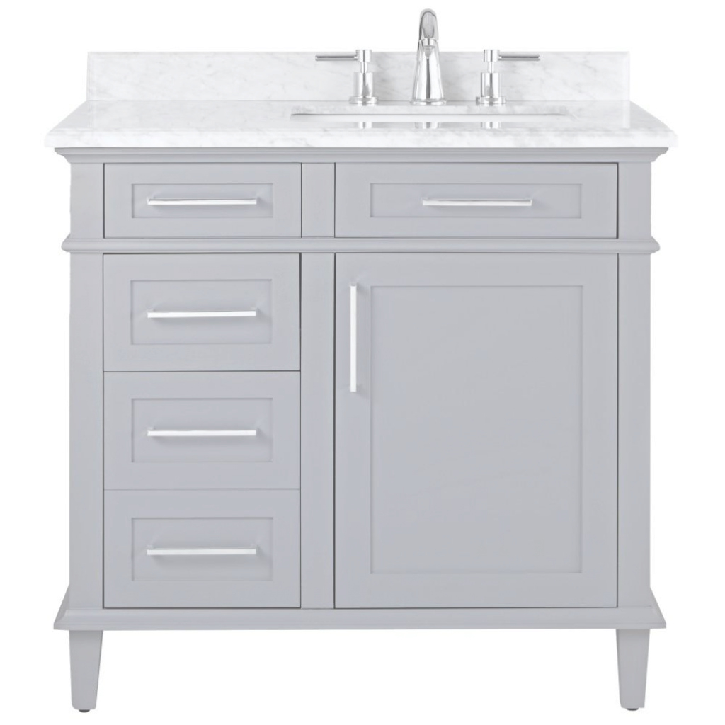 Lovely Home Decorators Collection Sonoma 36 In. W X 22 In. D Bath Vanity In throughout Home Depot Vanity Bathroom