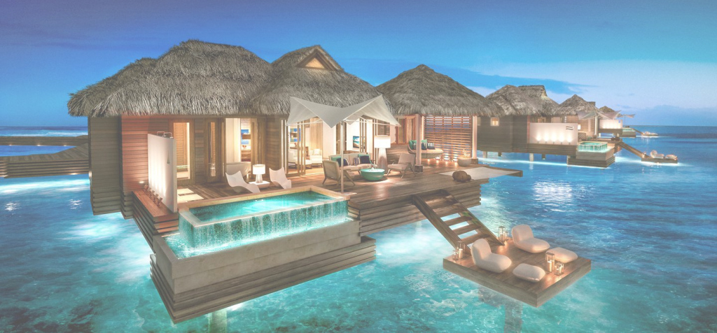 Lovely Honeymoon Villas On The Water - Metal Roof And Villa Karsinnat with High Quality Hawaii Overwater Bungalows