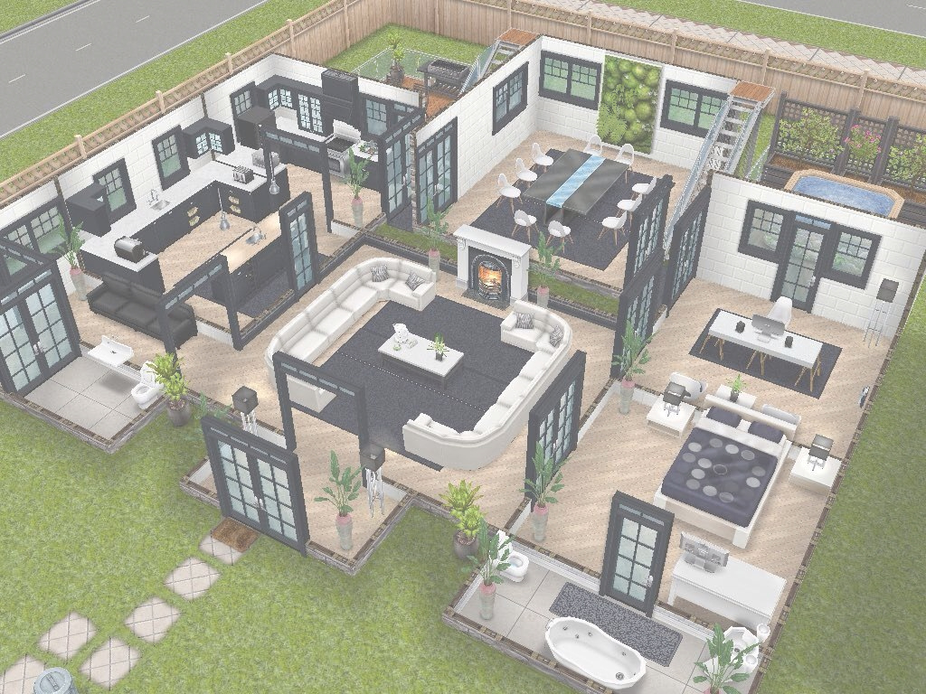 Lovely House 75 Remodelled Player Designed House - Ground Level #sims throughout Sims House Plans