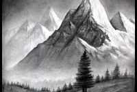 Lovely How To Draw A Realistic Landscape, Draw Realistic Mountains for Landscape Drawing Ideas