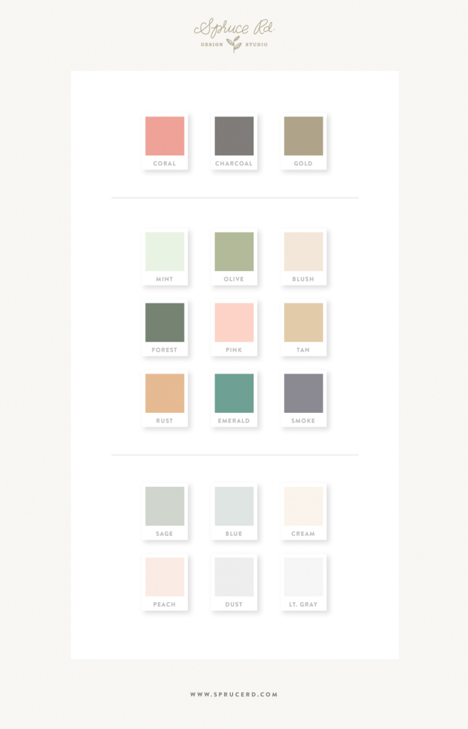 Lovely How To Select A Color Palette For Your Branding — Spruce Rd. in Branding Color Schemes