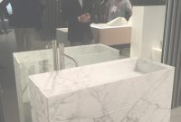 Lovely Interiors: Carrera Marble Bathroom Vanity regarding Fresh Marble Bathroom Vanity
