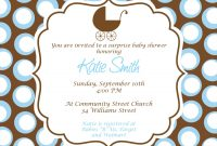 Lovely Invitation For Baby Shower: Charming Baby Boy Baby Shower with regard to New Baby Boy Baby Shower Invitations