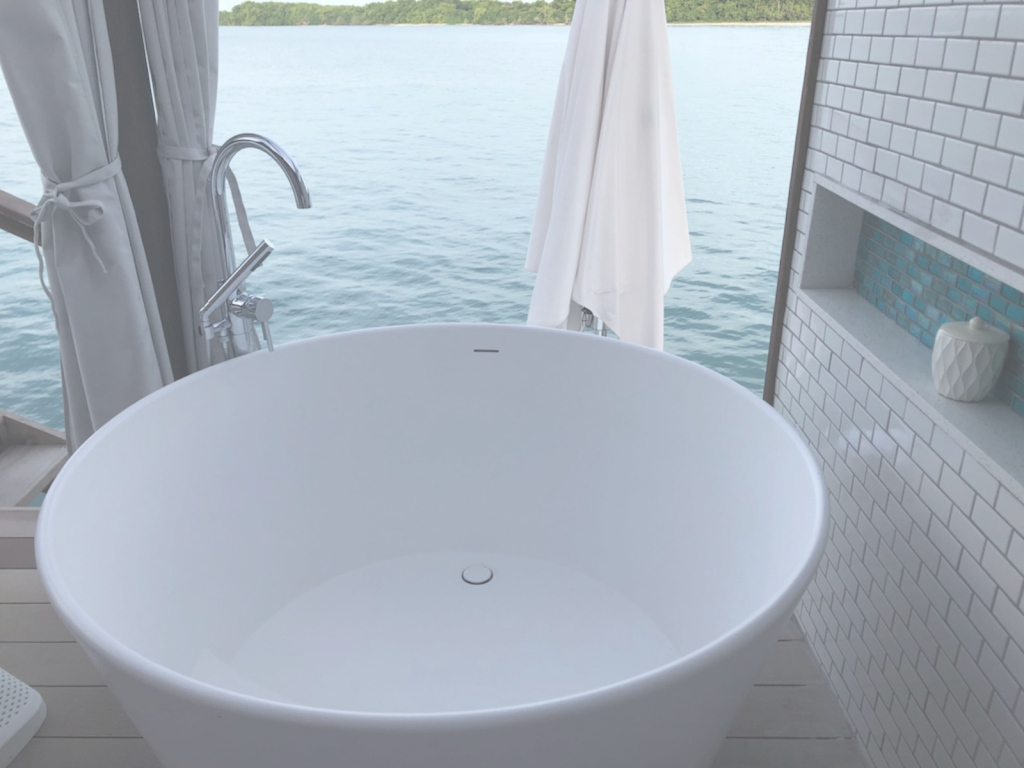 Lovely Jamaica's Newest Overwater Bungalows Come With The Bathtub Of Your throughout Overwater Bungalows Jamaica