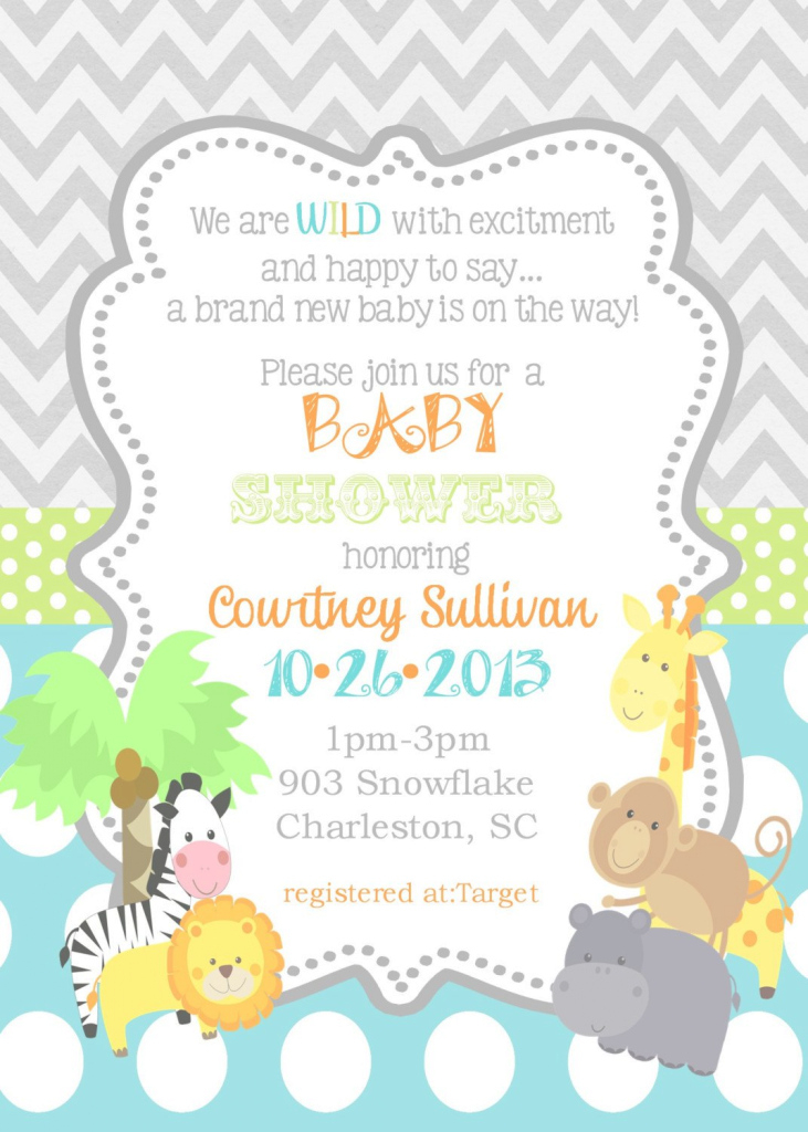 Lovely Jungle Animals Baby Shower Invitations -Safari Animals-Reserved For with Awesome Safari Animals Baby Shower