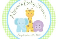 Lovely Jungle Animals Favor Tags Or Stickers/ Zoo Animals/personalized Baby in Awesome Safari Animals Baby Shower