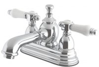 Lovely Kingston Brass Vintage Porcelain 4 In. Centerset 2-Handle Mid-Arc with regard to Fresh Porcelain Bathroom Faucets