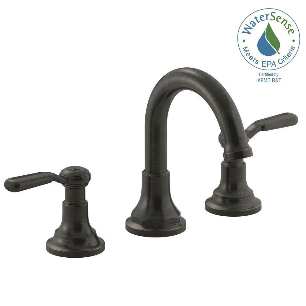 Lovely Kohler Worth 8 In. 2-Handle Widespread Bathroom Faucet In Oil-Rubbed inside Elegant Bathroom Faucet Oil Rubbed Bronze