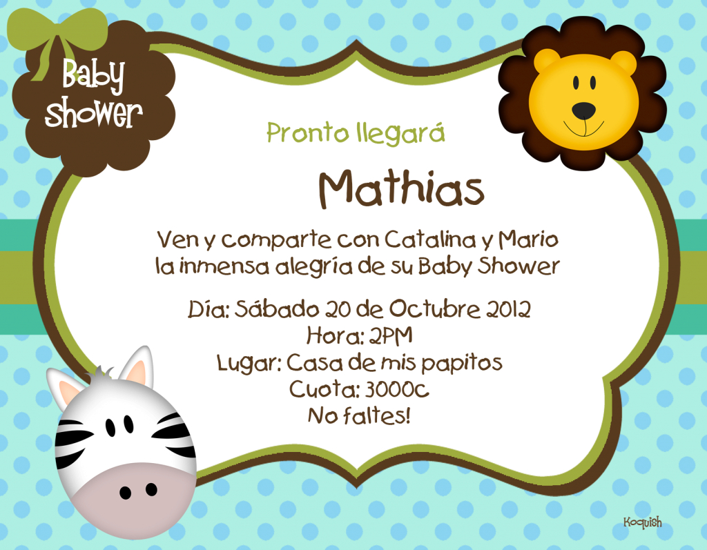 Lovely Koquish Invitaciones Digitales Para Baby Shower Invitaciones Para for Review Invitaciones Baby Shower
